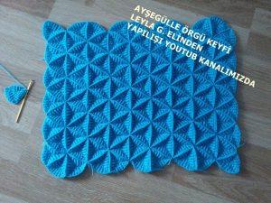 yıldızlı mozaik battaniye modeli
